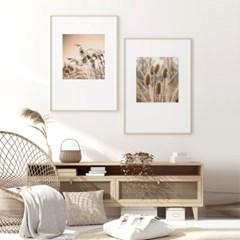 가을 그림 갈대 풍경 인테리어 액자 포스터 2in1 세트