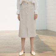 [클렛] FRONT POCKET SLIT SKIRT BEIGE