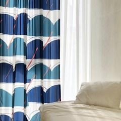 RAINY HILL MORNING_BLUE 한폭커튼