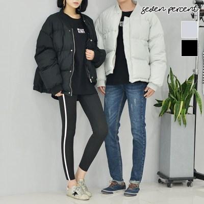 [세븐퍼센트] 남녀공용 덕다운 시보리 숏패딩 점퍼_(862584)
