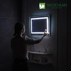 [우아미] 퍼블릭 LED 터치 사각 벽걸이 거울_(1726402)
