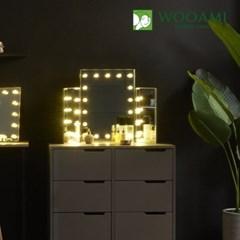 [우아미] 퍼블릭 LED 3단 화장대 거울_(1726397)