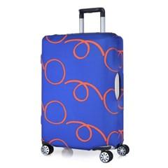[Travel Mate] Voyage 캐리어커버 - 워터폴 블루