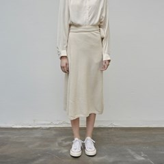 WARM KNIT WRAP SKIRT_IVORY