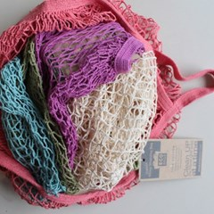 [꼬까참새] ECOBAGS_Natural Cotton Handle Net Bag