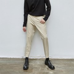 STRAIGHT CROP SLACKS_BEIGE
