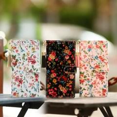 갤럭시노트5 (N920) Jardine-T 꽃무늬 지갑 다이어리 케이스