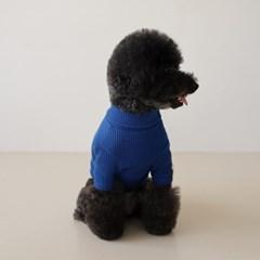 베이직 터틀넥 티셔츠 - 블루