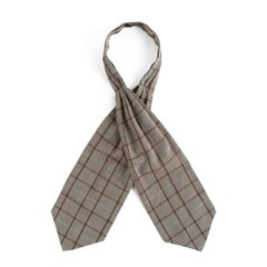 MP GLEN CHECK CRAVAT (beige)