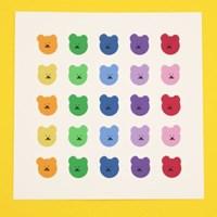 [한톨상점]파스텔 반곰이 스티커