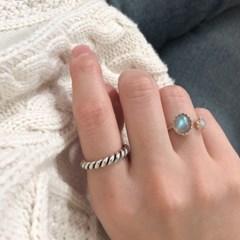 래브라도라이트 구름 반지