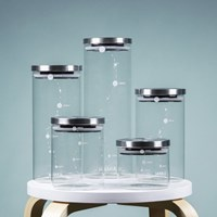 마카 캐니스터 내열 유리 냉장고 냉동실 수납용기_(2191107)