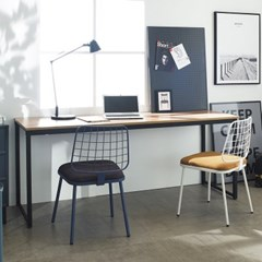 [데코마인] 오브리 스틸책상 1800 철제책상 원목테이블