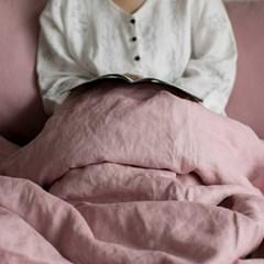 [Fabric] 백마포 아마란스 핑크 100% 퓨어린넨 캔버스