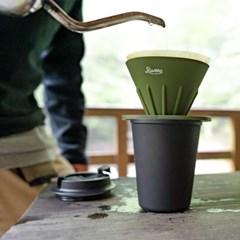 리버스 커피 드리퍼,홀더 세트 - 올리브_(1436575)