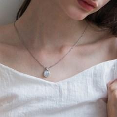 [92.5 silver] Shine moonstone necklace
