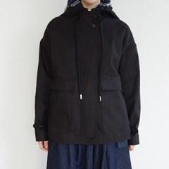 simple hood cotton jumper (black)_(1352674)
