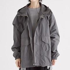 faintly texture hoody jumper (charcoal)_(1352672)