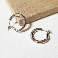 원터치 볼륨 후프 귀걸이(w)