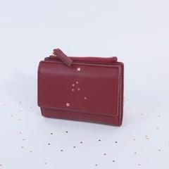 [온라인단독]에뜨왈 별자리 버건디반지갑CLAB17613SDP