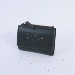 [온라인단독] 에뜨왈 별자리 펀칭 블랙 반지갑CLAB17612SBP