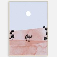 패브릭 포스터 캔버스 거실 카페 인테리어 그림 액자 낙타