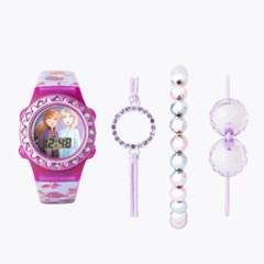 겨울왕국2 키즈 손목시계 팔찌 SET (퍼플)