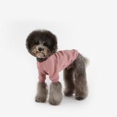 강아지 맨투맨 네오프렌 티셔츠 (핑크)