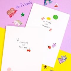 Dearest 우정 책 편지 문답 2권 [생일 졸업 선물 노트 편지지]