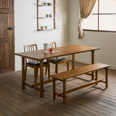 [장미맨숀] 로사 원목 4인용 6인용 테이블 식탁세트 (벤치형/의자형)
