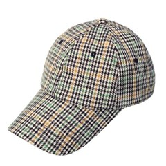 houndtooth check cap