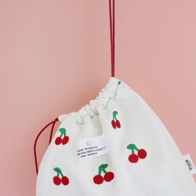 white Cherry Pouch x Bag