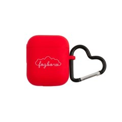 red fogbow + heart carabiner