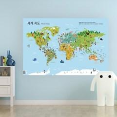 세계지도 포스터 2종 SET (한글+영어)
