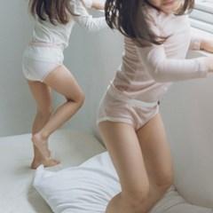 예) 모노 여아 이너세트(티+팬티)