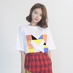 (UNISEX) Colorful M Logo Short Sleeve T (WHITE)_(1410659)