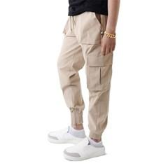 (UNISEX) Easy Zip-up Cargo-Jogger Pants (BEIGE)_(1410685)