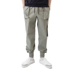 (UNISEX) Easy Zip-up Cargo-Jogger Pants (KHAKI)_(1410684)