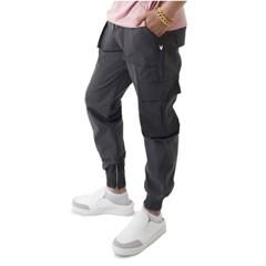 (UNISEX) Easy Zip-up Cargo-Jogger Pants (CHARCOAL)_(1410683)