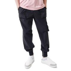 (UNISEX) Easy Zip-up Cargo-Jogger Pants (BLACK)_(1410682)