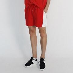 (UNISEX) MRMNT Color Track Shorts (RED)_(1410674)