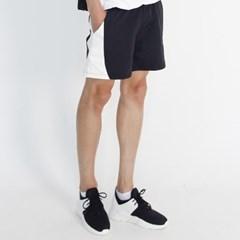 (UNISEX) MRMNT Color Track Shorts (BLACK)