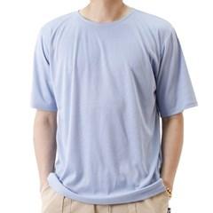 (UNISEX) Basic Color Short Sleeve T (SKY BLUE)_(1410708)