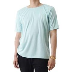 (UNISEX) Basic Color Short Sleeve T (MINT)_(1410707)