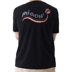 (UNISEX) Cat Footprint Short Sleeve T (BLACK)_(1410689)