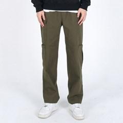 (UNISEX)Gargoyle Cargo Straight Span Pants(KHAKI)_(1410760)