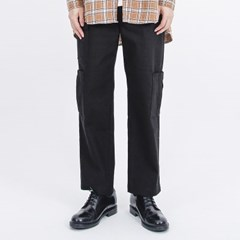 (UNISEX)Gargoyle Cargo Straight Span Pants(BLACK)_(1410758)