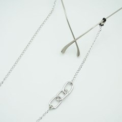 Three square link glasses chain