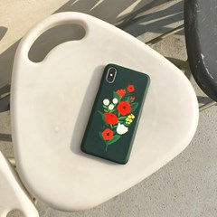 Bloom with sun Darkgreen 하드/카드범퍼케이스 (전기종)