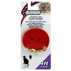 고양이외출용품 에비뉴 고양이 나일론줄 5mm(레드)_(1190147)